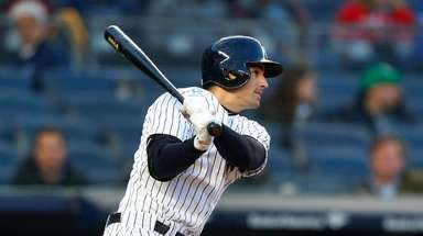 Tyler Wade of the Yankees follows through on