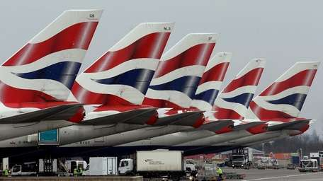 British Airways jets grounded at Heathrow Airport in