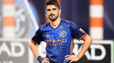 David Villa of NYCFC after a 2-2 draw