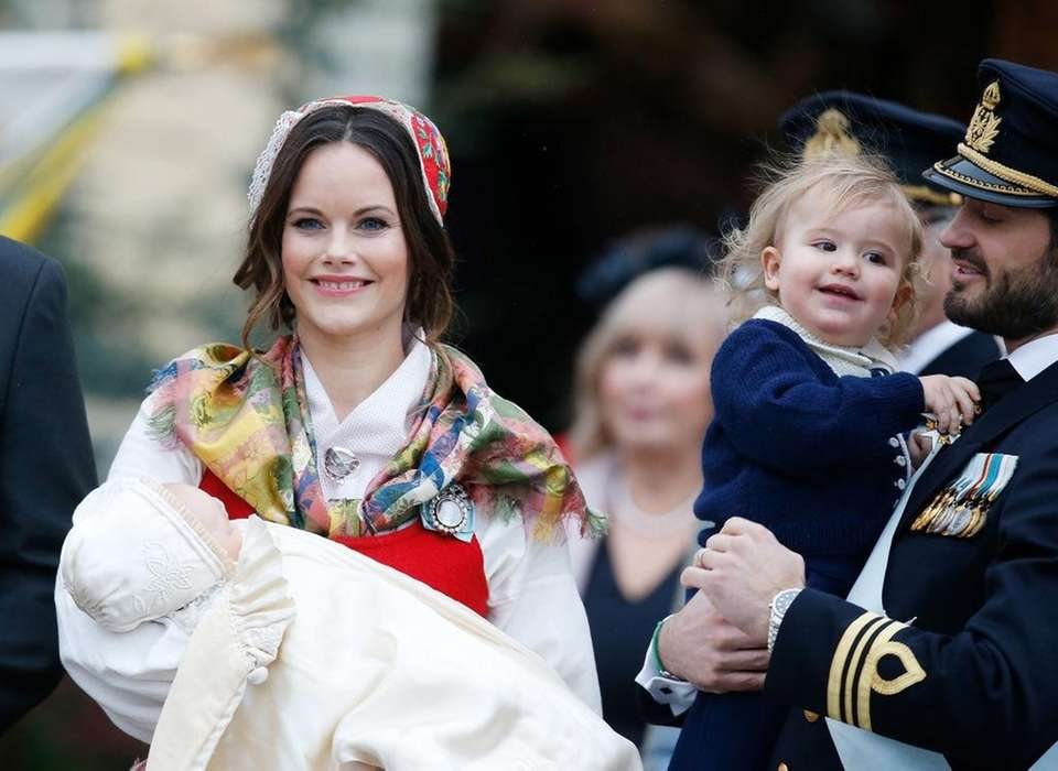 Princess Sofia, with Sweden's Prince Gabriel in her