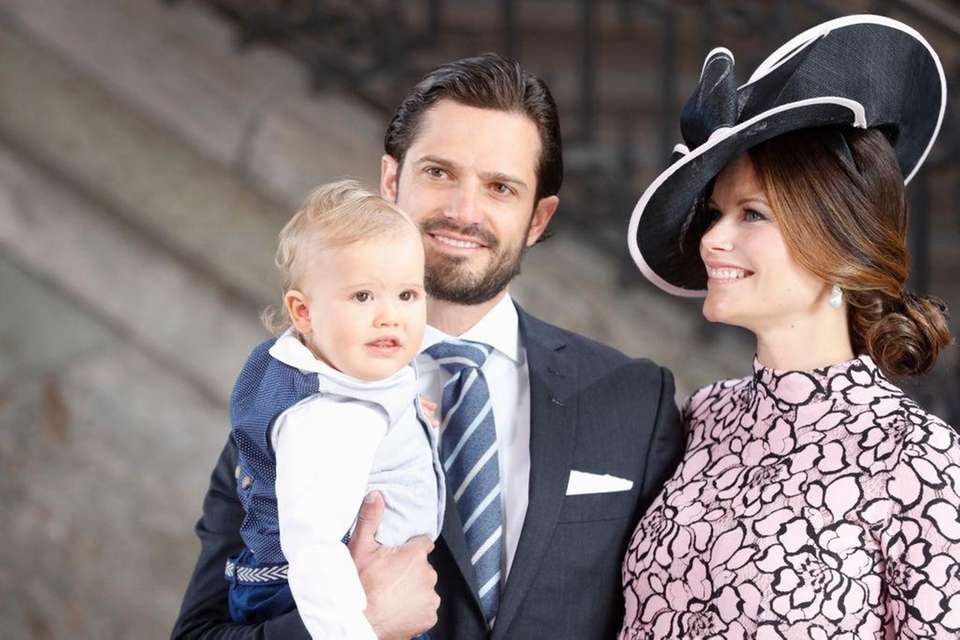 Sweden's Prince Alexander with father Prince Carl Philip