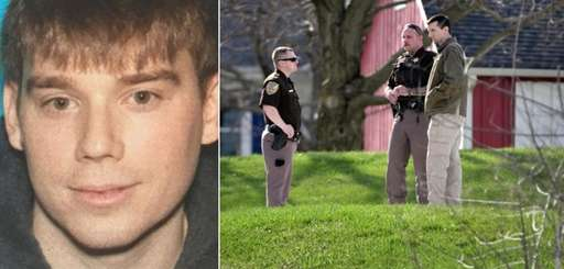 Travis Reinking, left, suspect in the slayings of