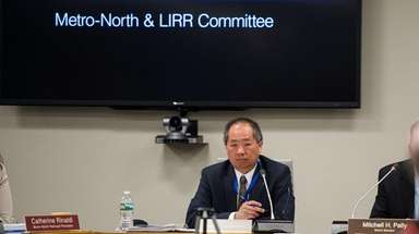 LIRR president Phillip Eng attends the MTA's LIRR