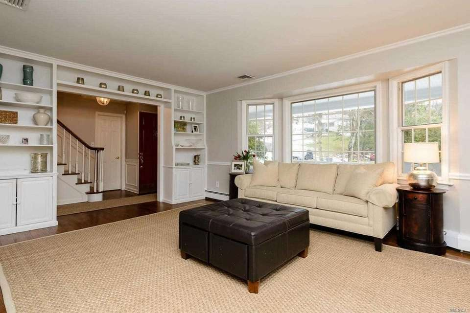 The living room in this Cold Spring Harbor