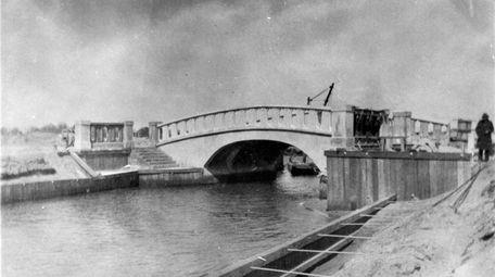 One of the original bridges, seen here around