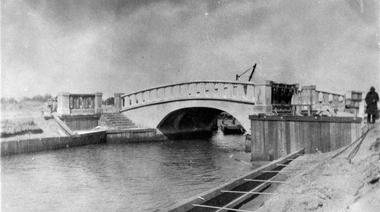 One of the original bridges, seen here around