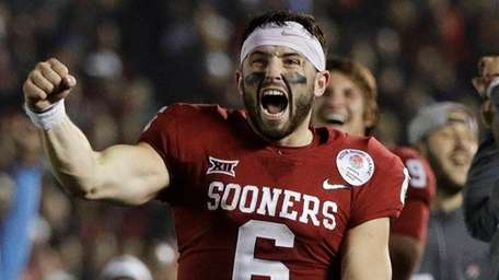 Oklahoma quarterback Baker Mayfield during the second half