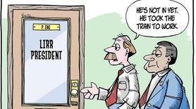 Matt Bodkin cartoon about the new LIRR president