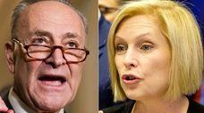 Democratic Sens. Chuck Schumer and Kirsten Gillibrand will