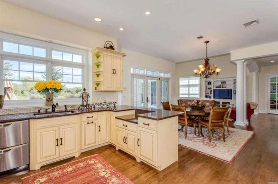 The gourmet kitchen in this Laurel Colonial opens
