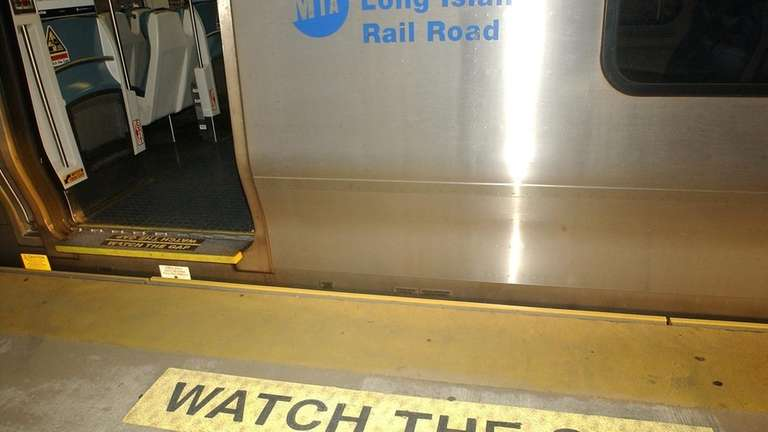 View of the gap distance on the platform