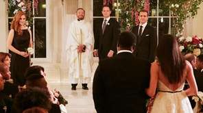 The dramatic wedding is a quick walk up