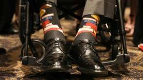 Former President George H.W. Bush's book-themed socks from