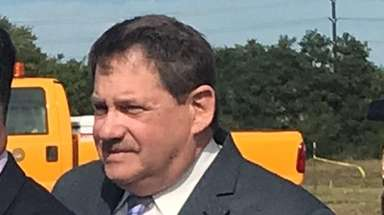 Oyster Bay Public Works Commissioner Richard Lenz, pictured