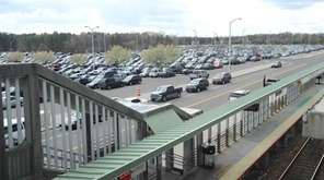 The county parking lot at the Ronkonkoma train
