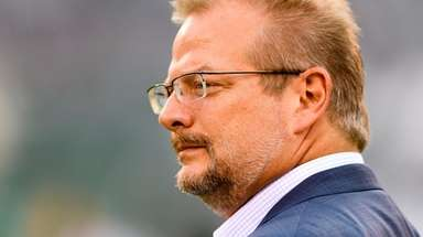 Jets GM Mike Maccagnan before the Jets preseason