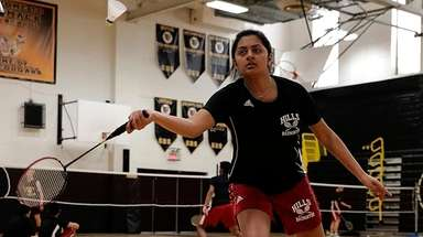 Half Hollow Hills' Shreya Barot with the forehand