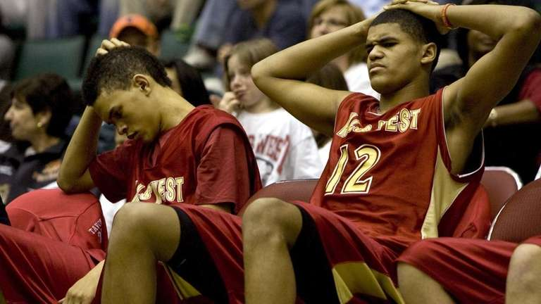 Half Hollow Hills West's Tyler and Tobias Harris