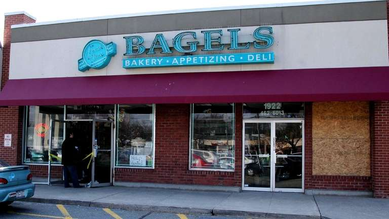 An oven exploded at a bagel shop in