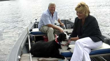 Smooch, a border collie from Amityville, acted as