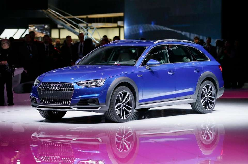 The Audi A4 allroad Quattro is displayed at
