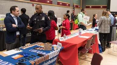 Stony Brook University hosted a job fair at