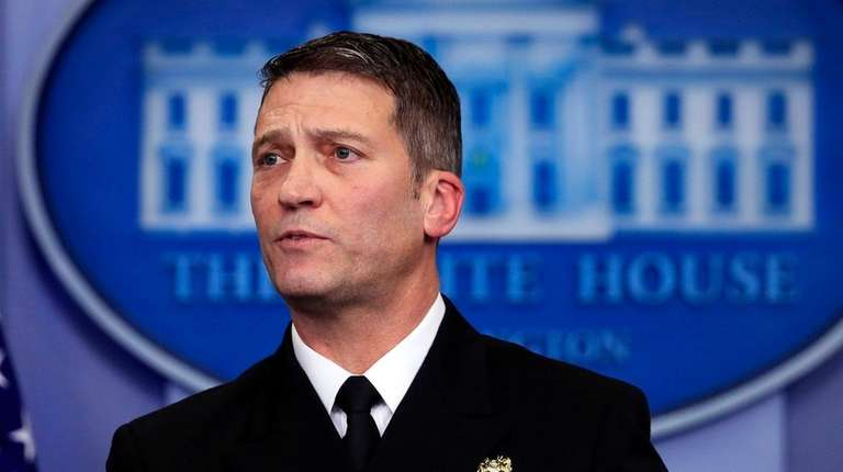 White House physician Dr. Ronny Jackson speaks to
