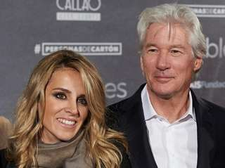Actor Richard Gere and girlfriend Alejandra Silva attend