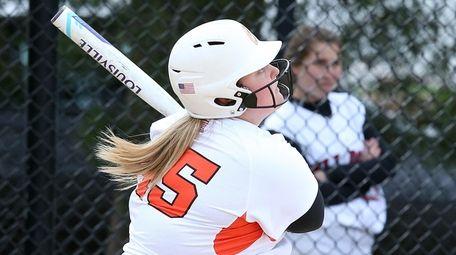 Carey's Francesca Cirone tags a two-run homer during