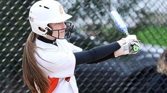Carey's Julia Parinello gets 2 RBIs on a