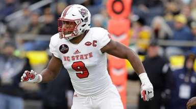 North Carolina State defensive end Bradley Chubb in