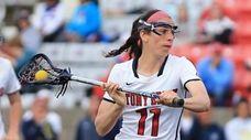 Stony Brook's Samantha DiSalvo #11 passes the ball