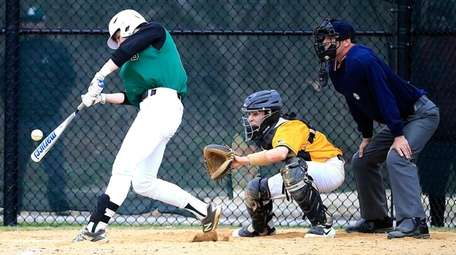 Longwood's Jake Dannenberg crushes a single up the
