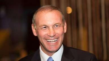 Democrat Steve Stern celebrates his victory in the