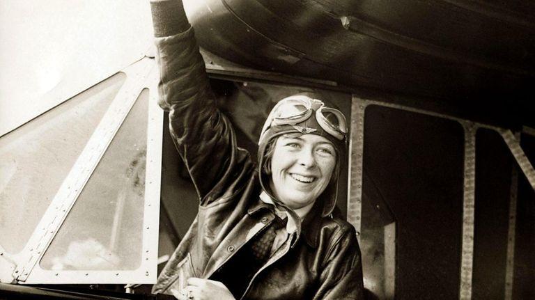 Elinor Smith Sullivan, then 17, waving to a
