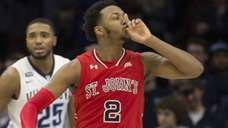 Shamorie Ponds of St. John's reacts in the