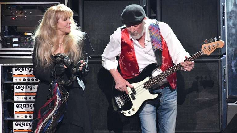 Stevie Nicks and John McVie of Fleetwood Mac
