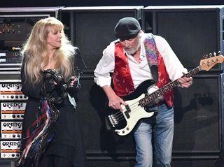 Stevie Nicks and John McVie of Fleetwood Mac