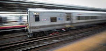 A Long Island Rail Road train enters Jamaica