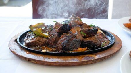 Beef mishkaki, a barbecue dish native to Kenya,
