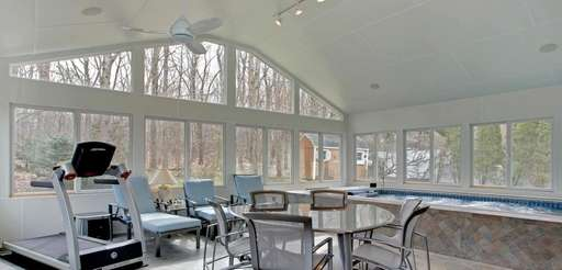 The three-bedroom, two-bathroom Old Bethpage house is on