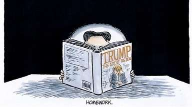 Jeff Koterba cartoon ahead of the expected Donald