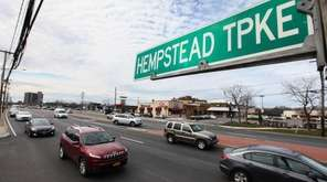 A view of Hempstead Turnpike in East Meadow.