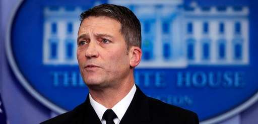 White House physician Dr. Ronny Jackson in the