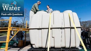 Fuji Clean USA's Scott Samuelson explains to Margaret