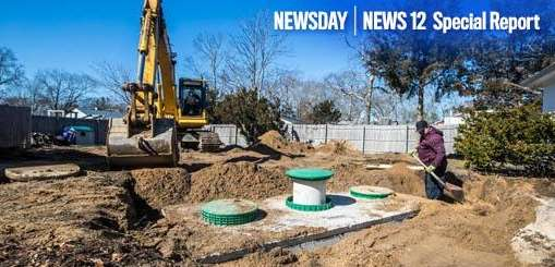 A Norweco Singulair septic system being installed a