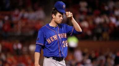 Mets starting pitcher Steven Matz waits on the