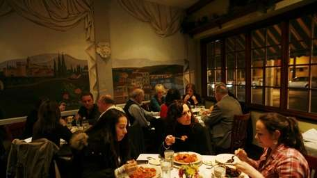 Many of the customers are regulars at Toscanini