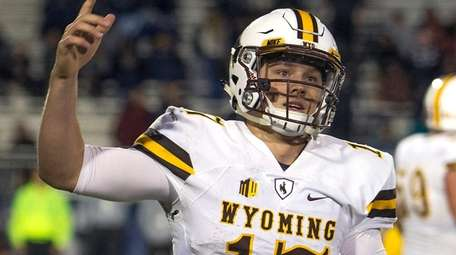 Wyoming quarterback Josh Allen against Nevada in Reno,