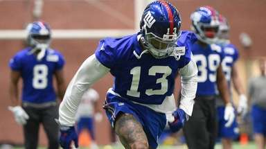 Giants wide receiver Odell Beckham Jr. at voluntary